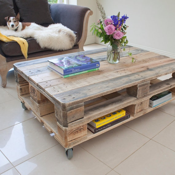 Palette Couchtisch Industrie Upcycling Altholz Etsy