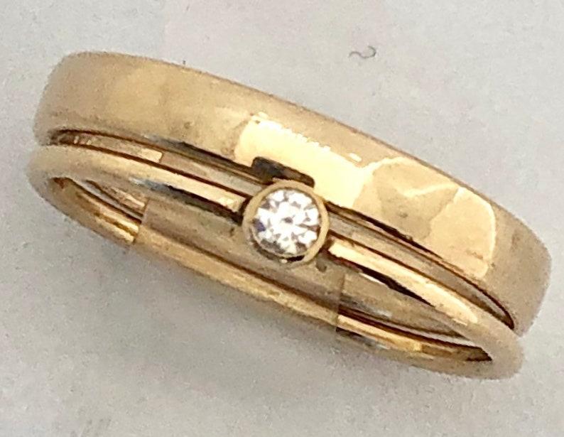 Tiny Diamond Ring Dainty Diamond Ring Minimalist Diamond image 0