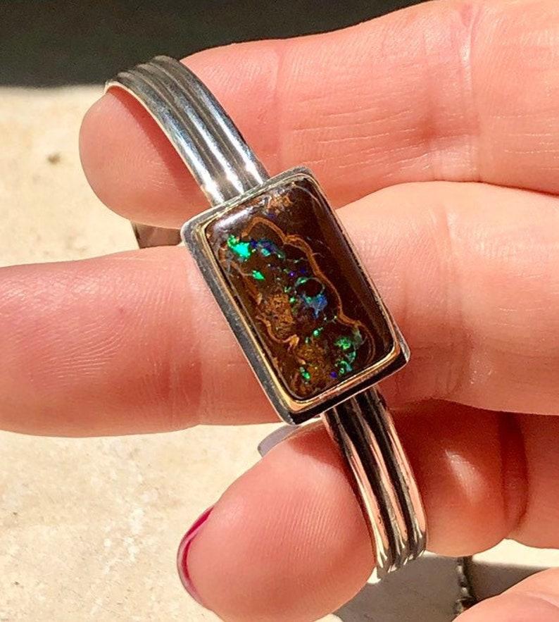 Koroit Opal Cuff Opal Cuff Boulder Opal Bracelet image 0