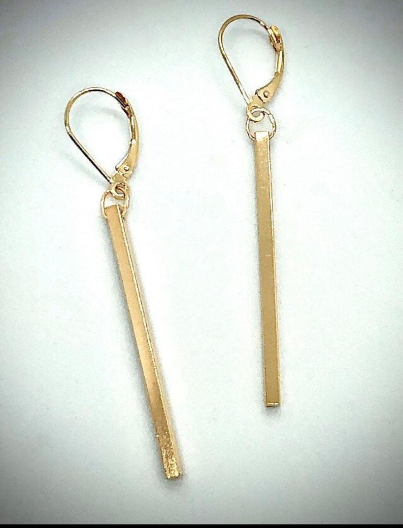 Gold Dangle Earrings image 0