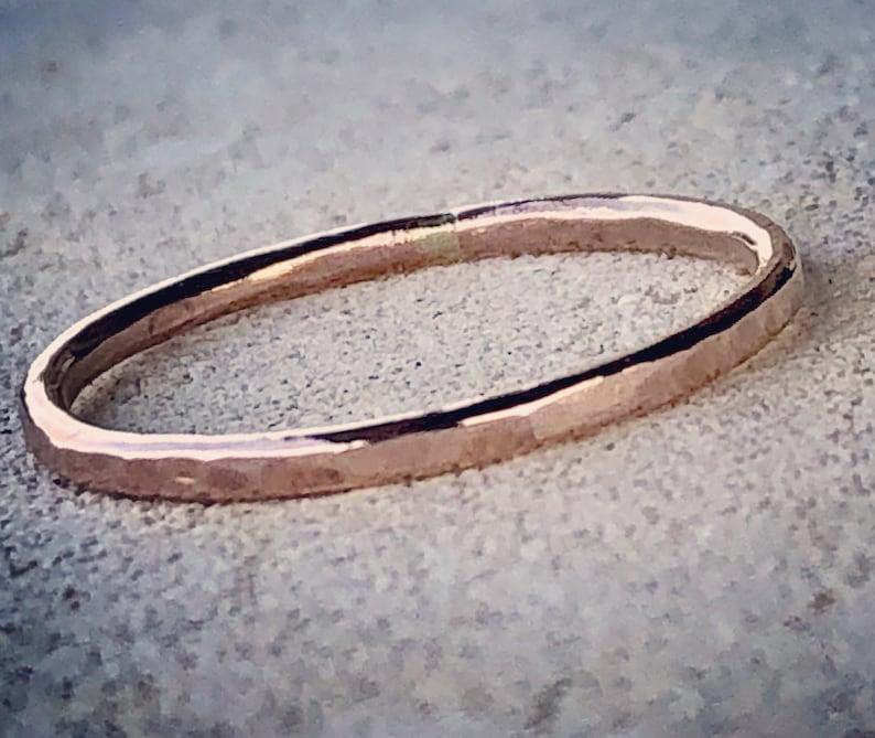Thin Gold Ring Rose Gold Ring Ultra Thin Band image 0