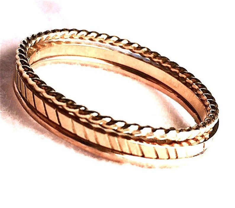 Gold Wedding Ring Simple Gold Ring image 0