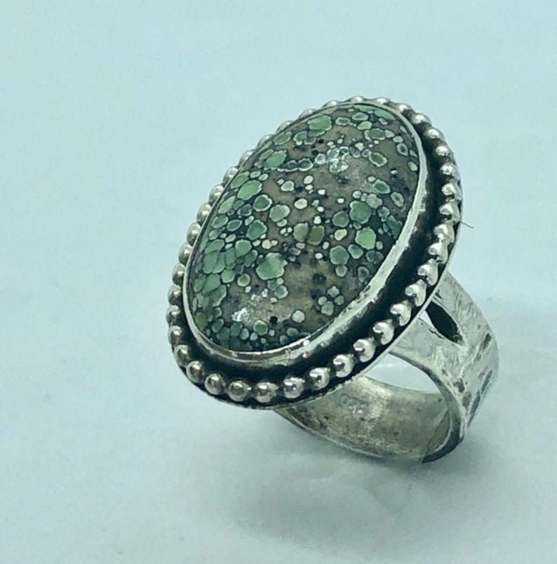 Star Fox Variscite Variscite Ring and Necklace image 0
