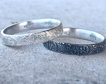Feather Ring, Plume Silver Ring