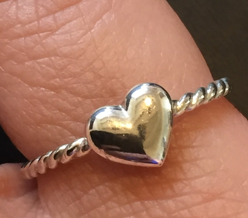 Silver Ring for Women Silver Heart Ring image 0