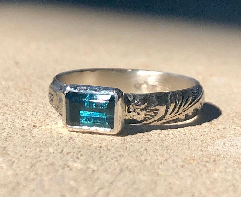 Tourmaline Ring Indicolite Tourmaline image 0