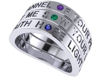 Prayer of Saint Francis, Make Me a Channel of Your Peace, Sterling Silver Ring, BRAND NEW DESIGN