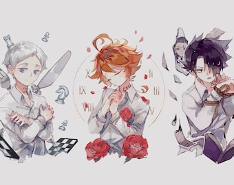 Norman Emma Ray Promised Neverland Double Sided Front & | Etsy