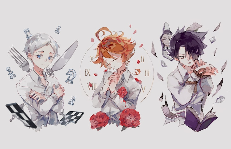 Emma, Norman, Ray (Promised Neverland) 8 5