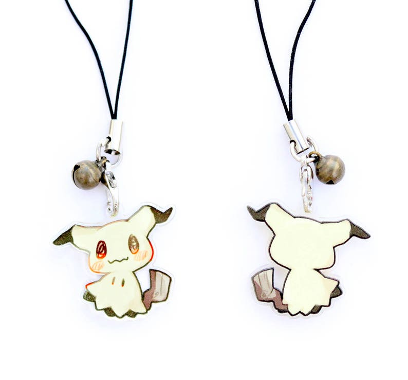 Pokemon Mimikyu 1 Mini Acrylic Charm with Phone Strap image 0