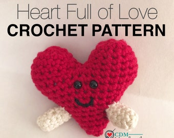 Heart Full of Love Amigurumi Crochet Pattern