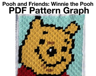 Pooh Bear and Friends Baby Blanket - Winnie the Pooh PDF Pattern Graph