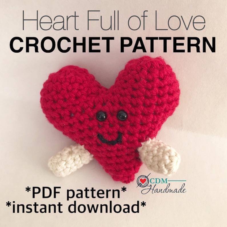 Heart Full of Love Amigurumi Crochet Pattern image 0