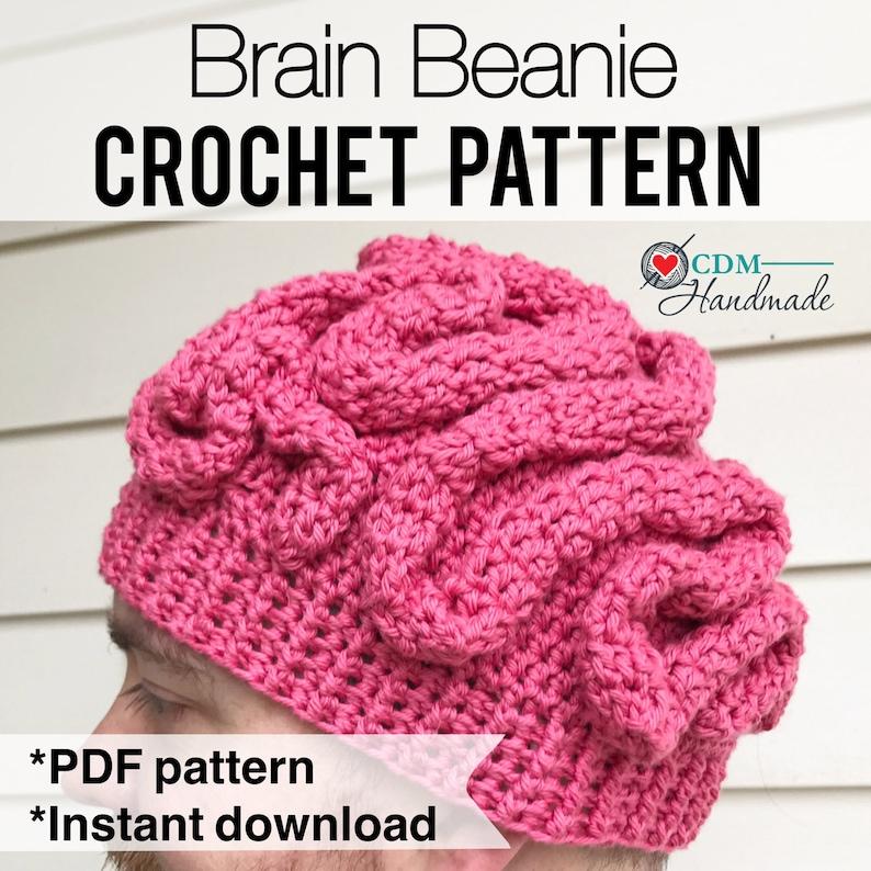 Brain Beanie Crochet Pattern image 0