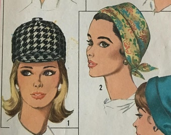 Vintage Pattern Woman's Hat, 1965