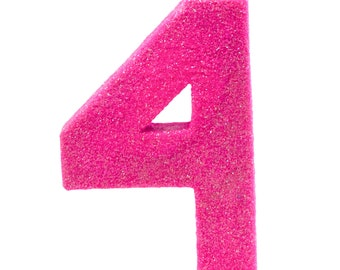 Gold Fine  8 4 Table Deco XL Glitter Number Four 4th Birthday Party Anniversary Giant Giant Number 4 Smash Cake Prop