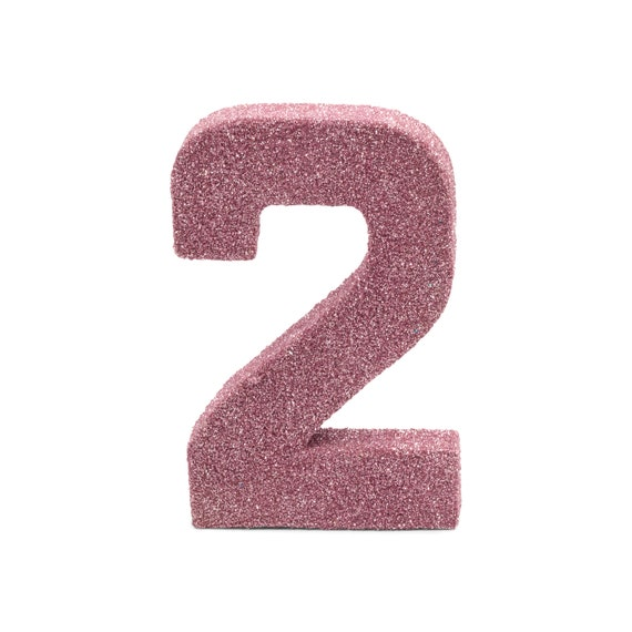 Smash Cake Prop Table Deco XL Glitter Number Six 6th Birthday Party Anniversary Giant Giant Number 6 Blush Pink 8 6
