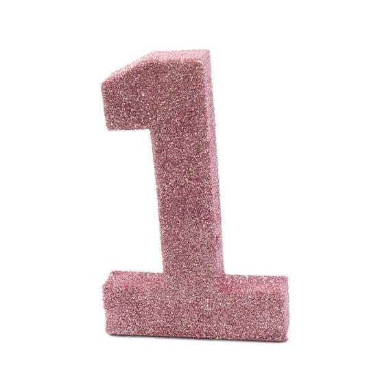 Giant Number 1 Blush Pink 8 Smash Cake Prop Table