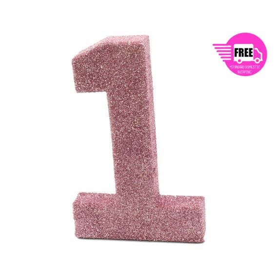 Ships Free Giant Number 1 Blush Pink 8 1 Smash Etsy