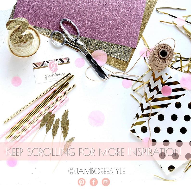 Handmade Decorative Silverware Hot Pink Utensils 15pc+ Gold Spoons Disposable Tableware Hot Pink Glitter