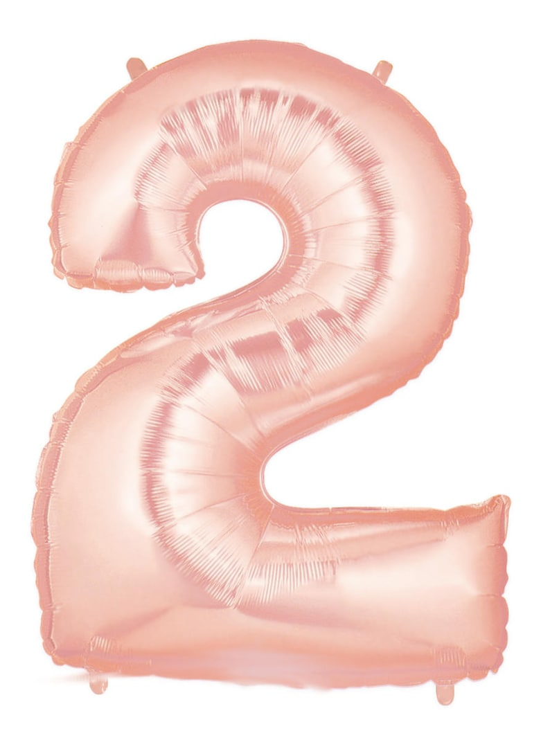 40\u201d XL /'2/' Balloon Birthday Celebration Graduation Large 40 Number 2 Balloon Rose Gold
