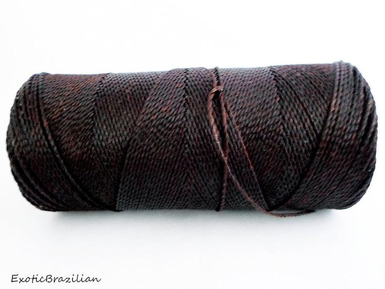 dark brown waxed thread Linhasita DARK BROWN no29 whole spool of 188yards Thread for macrame 1 spool