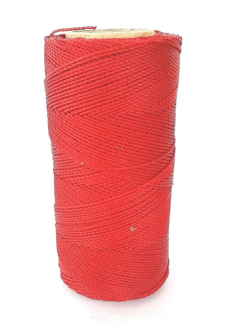waxed cord 16yards Red waxed polyester cord Linhasita no233 jewelry cord necklace cord waxed macrame cord red waxed polyester thread