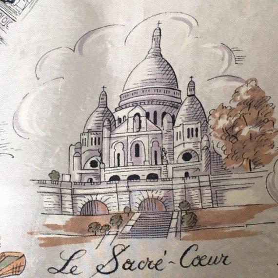 Paris / France / white / souvenir / vintage scarf