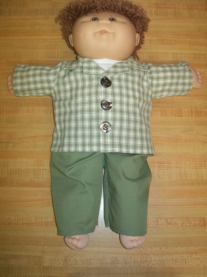 """3 pc BACK TO SCHOOL OUTFIT for 20/"""" TRU cabbage patch cpk kids shirt jacket pants"""