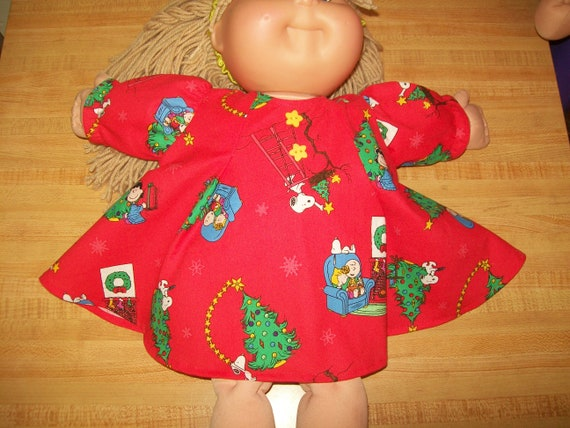 """HELLO KITTY DRESS W// FACE APPLIQUE for 16/"""" CPK Cabbage Patch Kid  RED BOW"""
