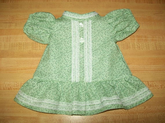 CPK doll dress//16-18 inch//2 blue prints cotton dress//bloomers//lace