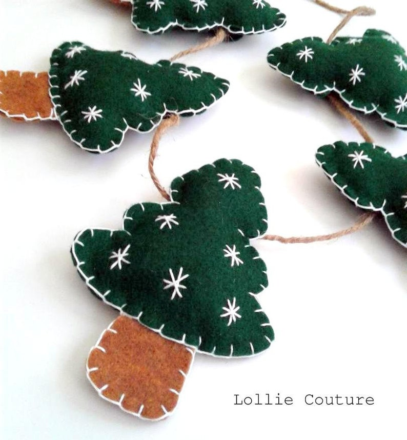 Christmas Tree Garland Christmas Garland Felt Christmas Garland Christmas Decor Felt Garland Felt Ornaments Christmas Ornaments