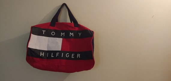 Vintage Tommy Hilfiger Big Logo Duffel Bag
