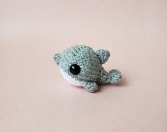 Custom Crochet Dolphin / Personalized Dolphin / Custom Pocket Critter