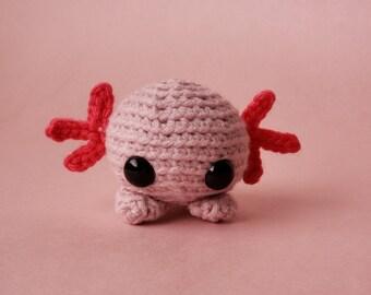 Custom Crochet Axolotl Stuffed Animal Plush Toy / Pocket Critter: My BFF Collection