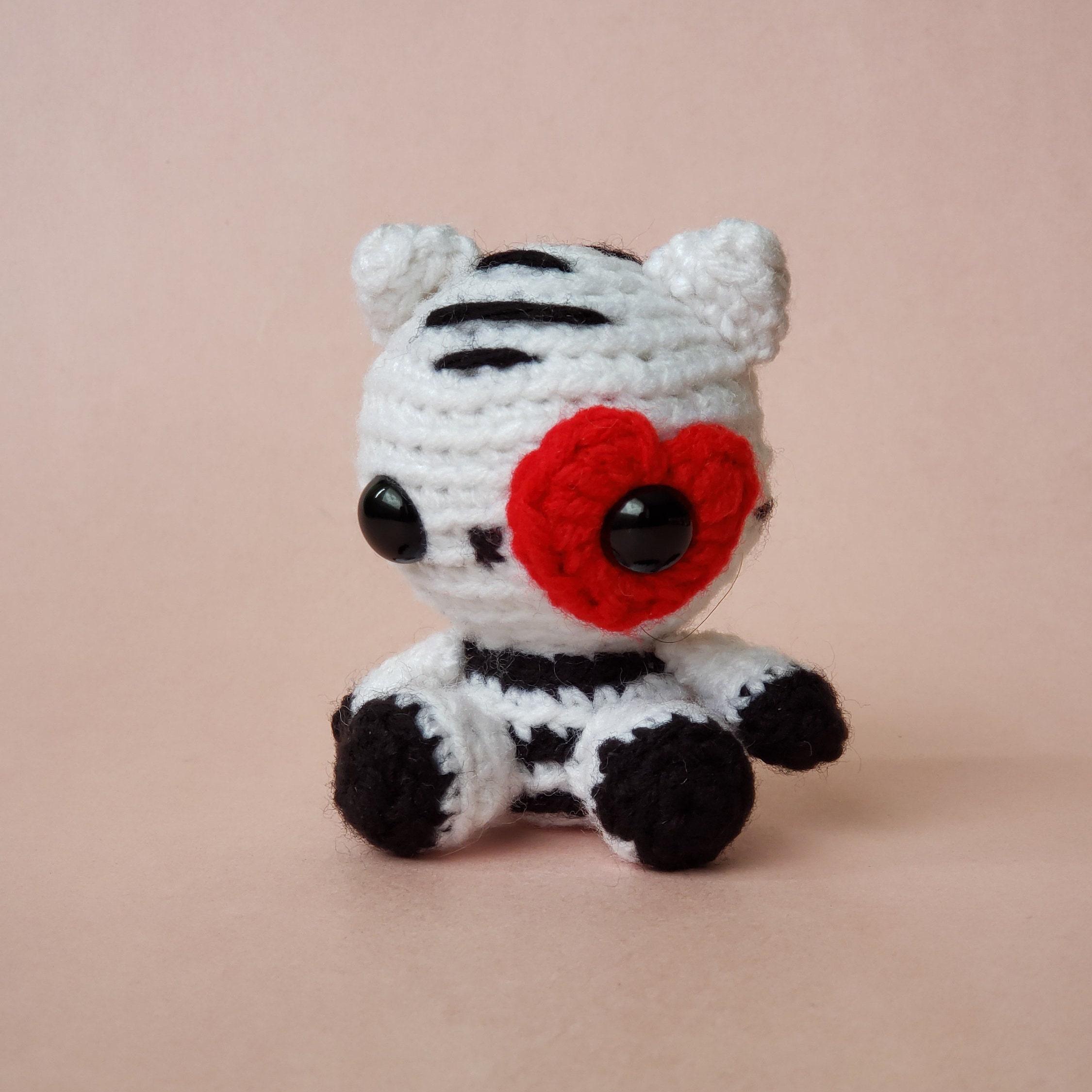 Crochet White Tiger Plush Stuffed Animal Toy Mini Critter Etsy