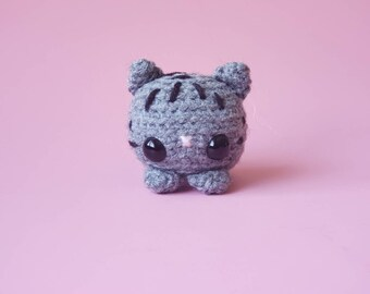 Custom Crochet Tabby Cat / Personalized Cat Plush / Custom Pocket Critter