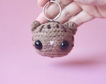 Custom Crochet Tabby Cat Keychain / Personalized Cat Plush / Custom Pocket Critter