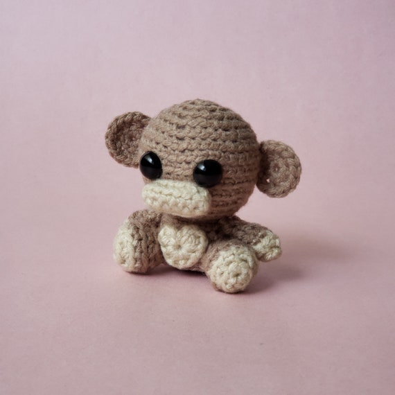 Crochet Monkey Stuffed Animal Plush Toy Mini Critter On Etsy