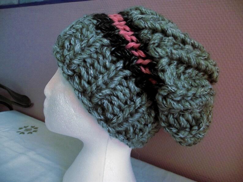 Grey Heather READY TO SHIP mesh fashion design. Falling hat many winters