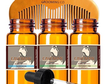 Free Comb Without Return Health & Beauty Strong-Willed Hand Crafted Caveman Choose Your Own 3 Scents Beard Oil Conditioner Aftershave & Pre-shave
