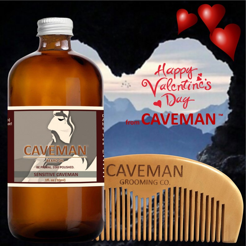 Free Comb High Quality Goods Aftershave & Pre-shave Hand Crafted Caveman® 3 Scents Manly Beard Oil Beard Conditioner