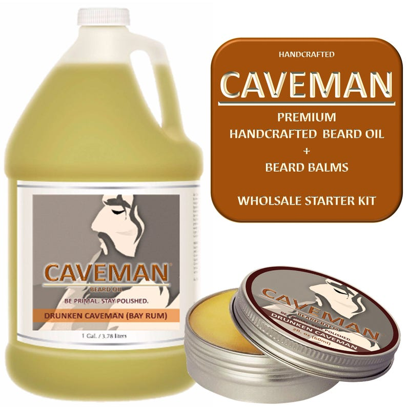 Hand Crafted Cedarwood Beard Oil Conditioner 2 Oz By Caveman® Beard Care Shave Aftershave & Pre-shave