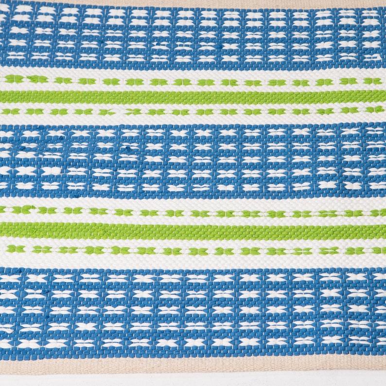 Blau und weiß und Kalk Streifen Design Teppich Kinderzimmer | Etsy