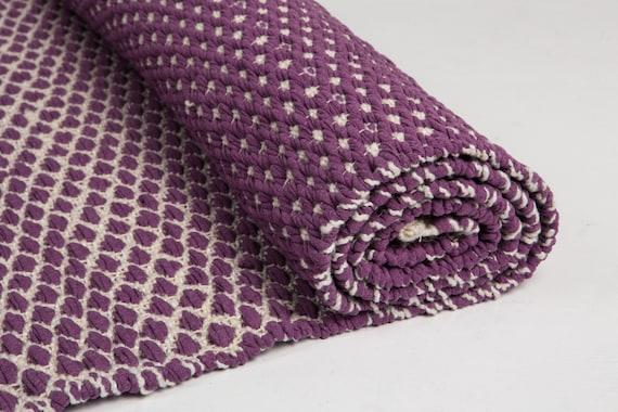 BlackBerry et blanc tapis tapis en coton violet tapis de | Etsy