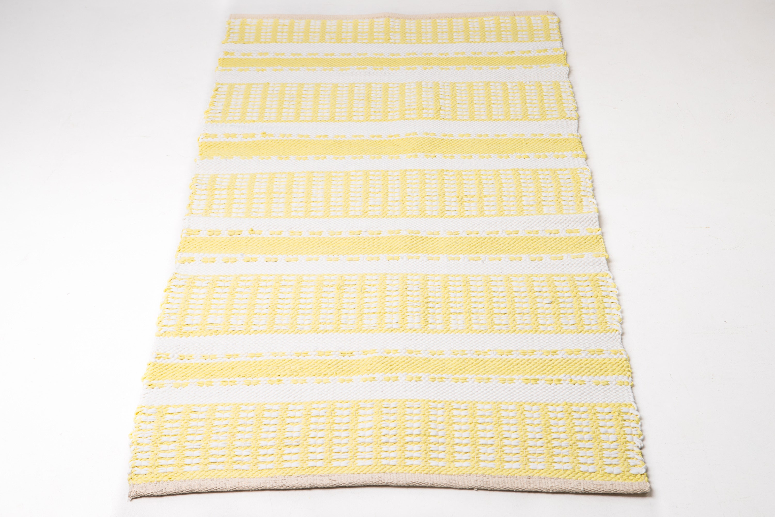 Lemon And White Rug Throw Rug Bedroom Small Rug Runner Rug Etsy