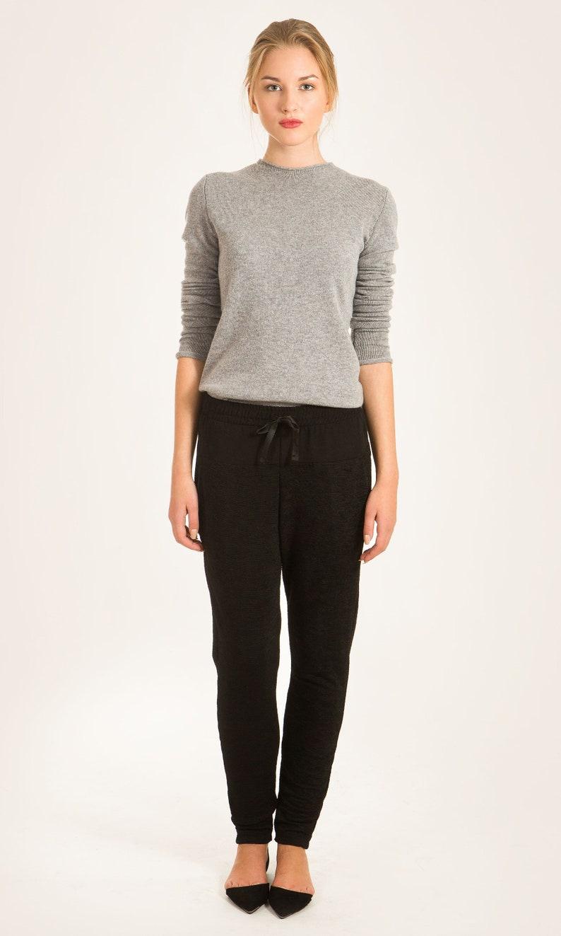 Cashmere sweater Grey cashmere jumper Womens top Grey  89ffc550a