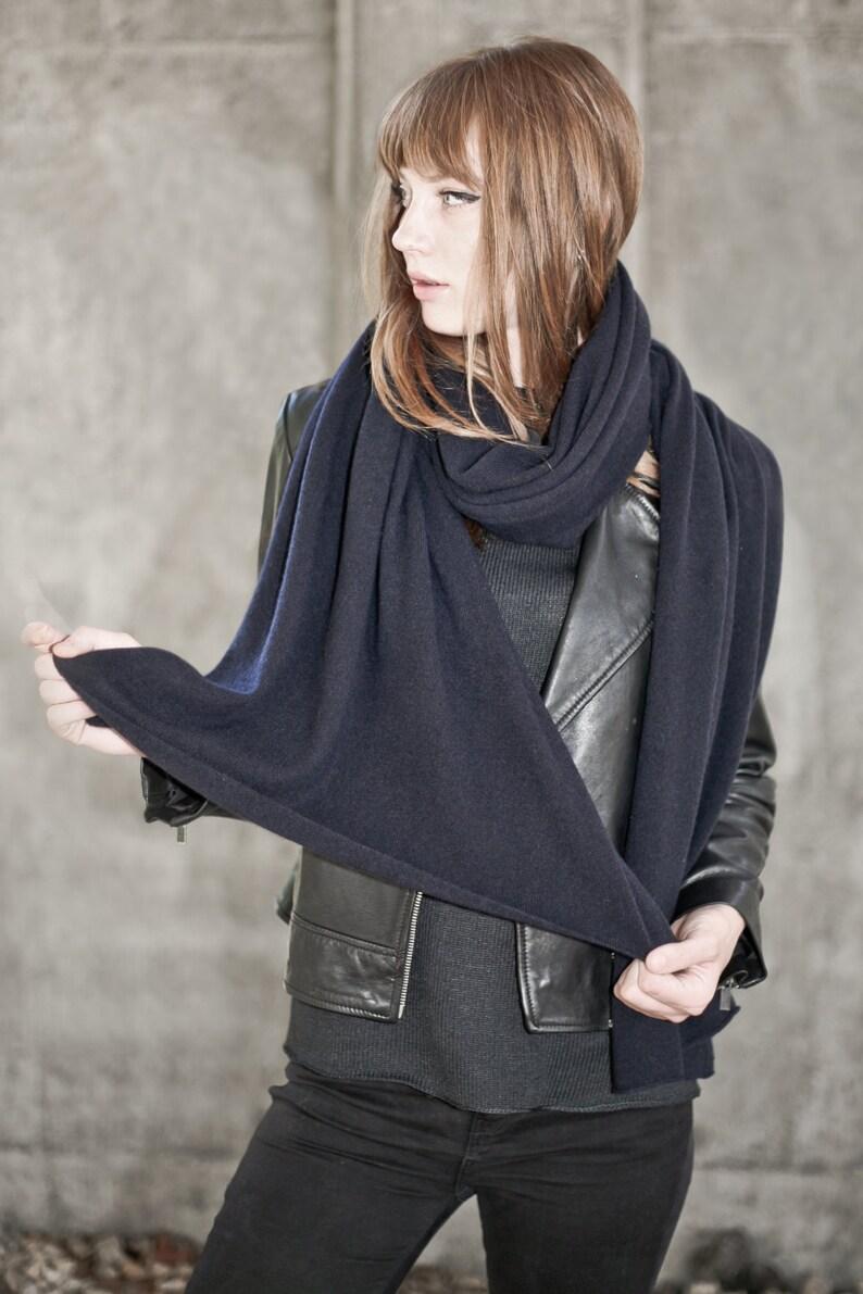 92e3cd9495a00 Dark blue womens cashmere scarf travel wrap Long cashmere | Etsy