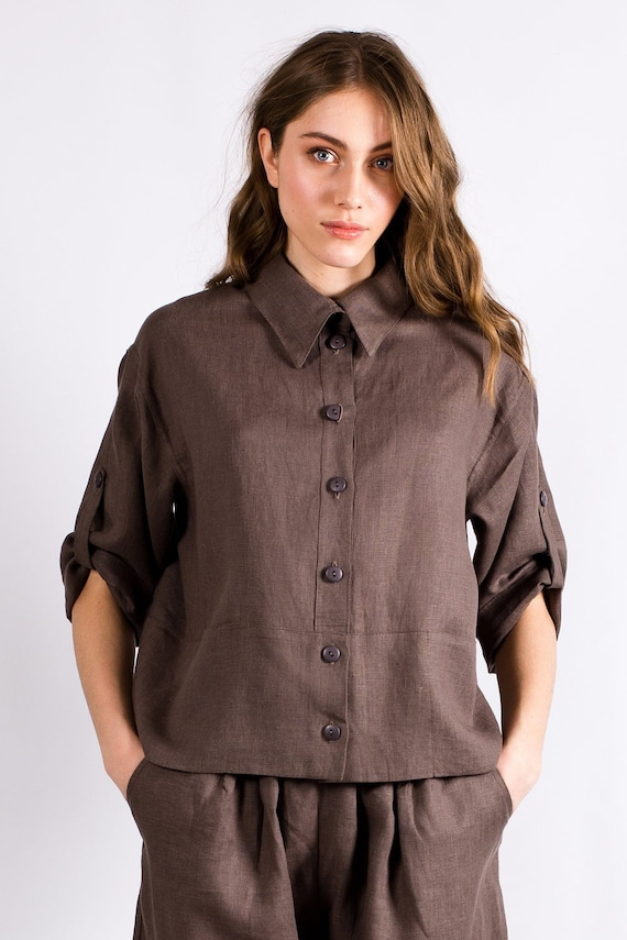 Linen set Long sleeve linen Set linen outfit Mother Day Gift Linen fashion Labera 100/% pure linen Linen clothing
