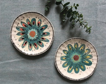 small cup flower / / ring dish